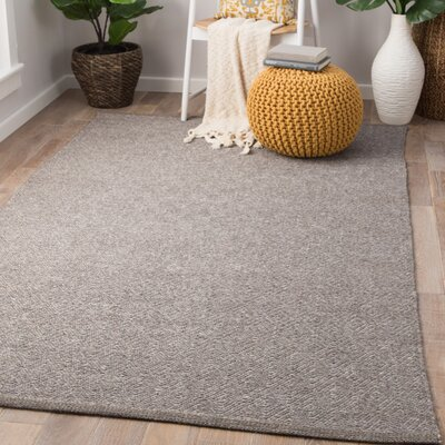 Mahaney Hand-Woven Wool Fungi/Frost Gray Area Rug Rug Size: Rectangle 9 x 13