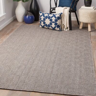 Criss Hand-Woven Brushed Nickel/Walnut Area Rug Rug Size: Rectangle 8 x 10