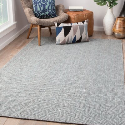 Criss Hand-Woven Steel Gray/Cameo Blue Area Rug Rug Size: Rectangle 2 x 3