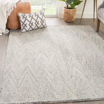 Paredes Hand-Tufted Gray Area Rug Rug Size: Rectangle 9 x 12