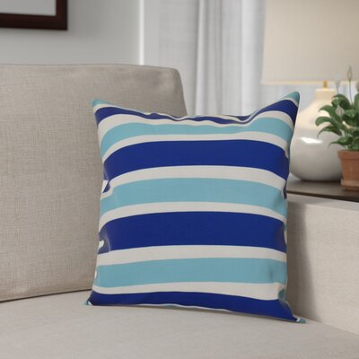Hanukkah 2016 Decorative Holiday Striped Outdoor Throw Pillow Size: 18 H x 18 W x 2 D, Color: Royal Blue