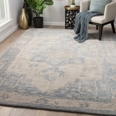 Lafave Hand-Tufted Gray Morn/Steeple Gray Area Rug Rug Size: Rectangle 5 x 8
