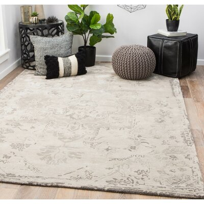 Patchell Hand-Tufted Pumice Stone/Steeple Gray Area Rug Rug Size: Rectangle 9 x 12