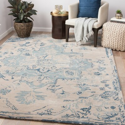 Patchell Hand-Tufted Feather Gray/Lead Area Rug Rug Size: Rectangle 9 x 12