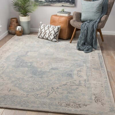 Lafever Hand-Tufted Gray Morn/Steeple Gray Area Rug Rug Size: Rectangle 5 x 8