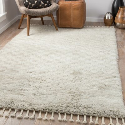 Majewski Hand-Knotted Wool Dawn Blue/London Fog Area Rug Rug Size: Rectangle 5 x 8