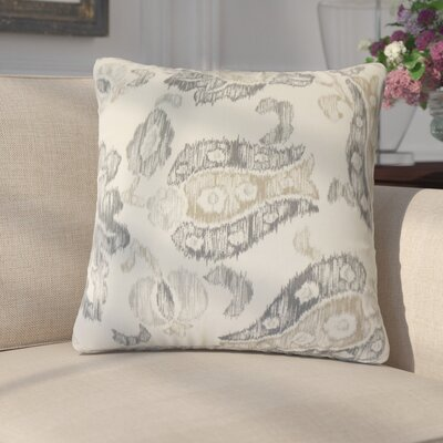 Alonza Ikat Cotton Throw Pillow Color: Gray