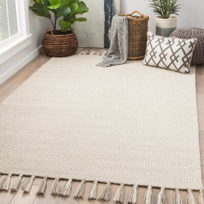 Parenteau Hand-Woven Wool Goat/Turtledove Area Rug Rug Size: Rectangle 8 x 10