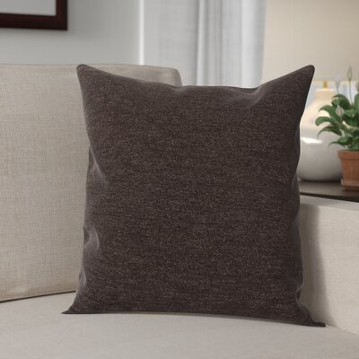 Danin Modern Outdoor Throw Pillow Color: Chocolate, Size: Small