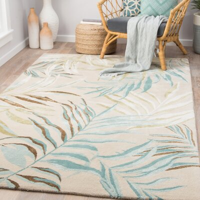 Lindenwood Hand-Tufted Aqua Blue/Green Area Rug Rug Size: Rectangle 96 x 136