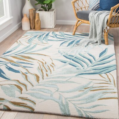 Lindenwood Hand-Tufted Birch/Arctic Area Rug Rug Size: Rectangle 5 x 8