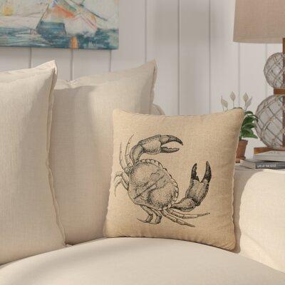 Truman Crab Throw Pillow Color: Natural