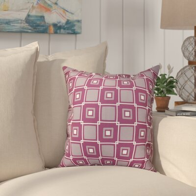 Cedarville Square Geometric Print Throw Pillow Size: 18 H x 18 W, Color: Purple