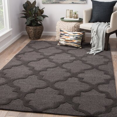 Medrano Hand-Tufted Wool Forged Iron Area Rug Rug Size: Rectangle 9 x 13