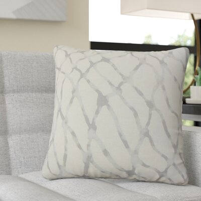 Ritter Graphic Linen Throw Pillow Color: Gray