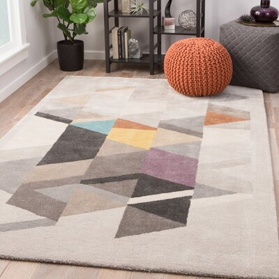 Cephas Hand-Woven Tidal Foam/Bran Area Rug Rug Size: Rectangle 5 x 8