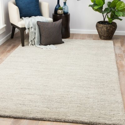 Flemingdon Hand-Woven Wool Silver Lining/Goat Area Rug Rug Size: Rectangle 9 x 13