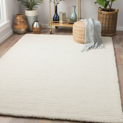 Mahar Hand-Woven Angora/Marshmallow Area Rug Rug Size: Rectangle 5 x 8