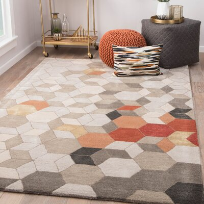 Cearley Hand-Tufted Pumice Stone/Fallen Rock Area Rug Rug Size: Rectangle 9 x 13
