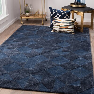 Eaddy Hand-Tufted Blue Nights/Mood Indigo Area Rug Rug Size: Rectangle 9 x 13