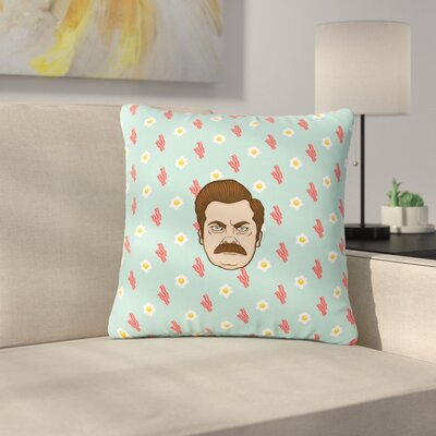 Juan Paolo Give Me All of the Bacon and Eggs Parks & Recreation Outdoor Throw Pillow Size: 16 H x 16 W x 5 D