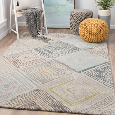 Eades Hand-Tufted Feather Gray/Sedona Sage Area Rug Rug Size: Rectangle 2 x 3