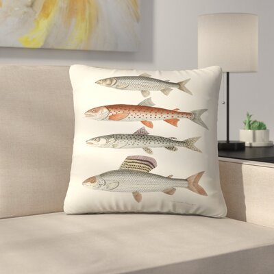 Fourfish Throw Pillow Size: 18 x 18