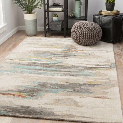 Flemings Hand-Tufted Tidal Foam/Bungee Cord Area Rug Rug Size: Rectangle 9 x 13