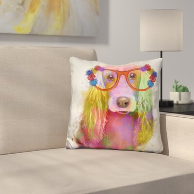 Cocker Spaniel Portrait Throw Pillow