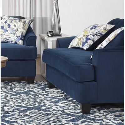 Meade Loveseat Upholstery: Blue