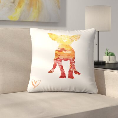 Chihuahua Silhouette Throw Pillow Size: 16 x 16