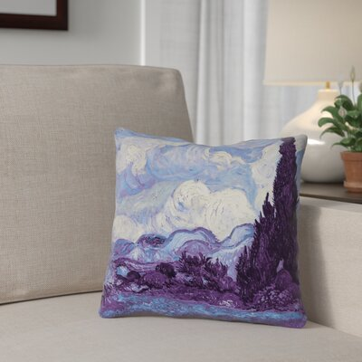 Morley Wheat Field with Cypresses Throw Pillow Size: 20 H x 20 W
