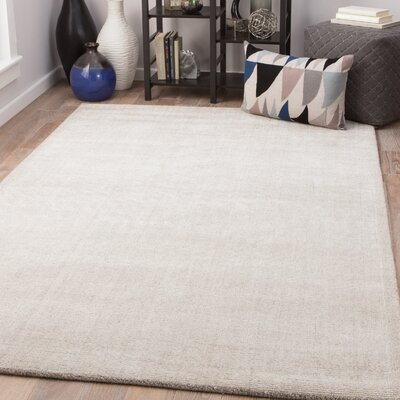 Holloman Hand-Woven Feather Gray/Nimbus Cloud Area Rug Rug Size: Rectangle 5 x 8