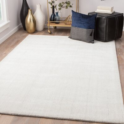 Holloman Hand-Woven Whitecap Gray/Bright White Area Rug Rug Size: Rectangle 5 x 8