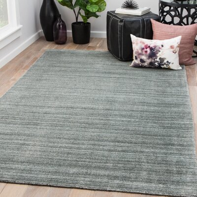 Goodlett Hand-Woven Moon Mist/Black Ink Area Rug Rug Size: Rectangle 8 x 10