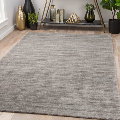 Goodlett Hand-Woven Silver Area Rug Rug Size: Rectangle 8 x 10