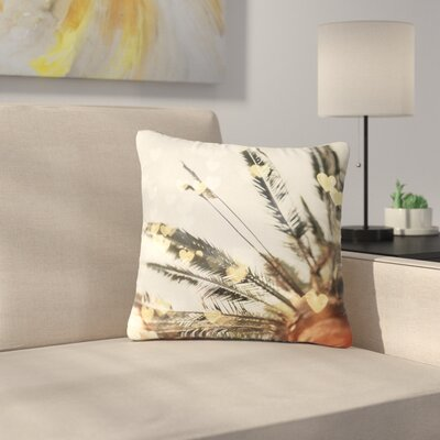 California Love Bokeh Nature Outdoor Throw Pillow Size: 16 H x 16 W x 5 D
