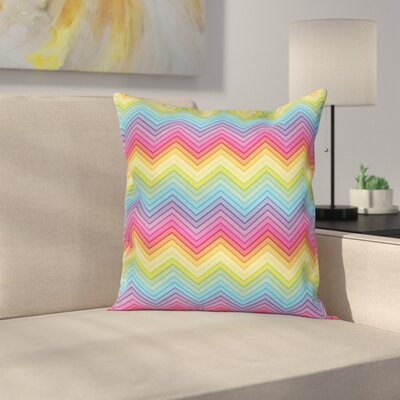 Chevron Square Pillow Cover Size: 18 x 18