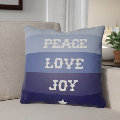 Stripe Indoor/Outdoor Throw Pillow Size: 20 H x 20 W x 4 D, Color: Blue / White