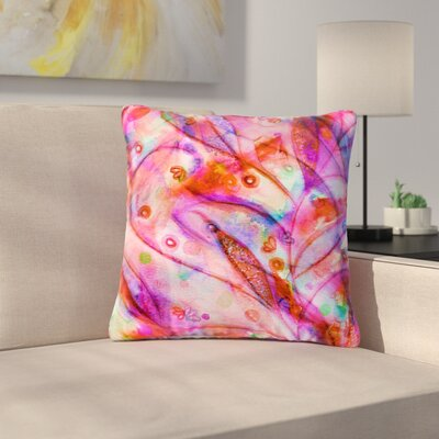 Ebi Emporium Floral Outdoor Throw Pillow Size: 18 H x 18 W x 5 D, Color: Purple/Magenta