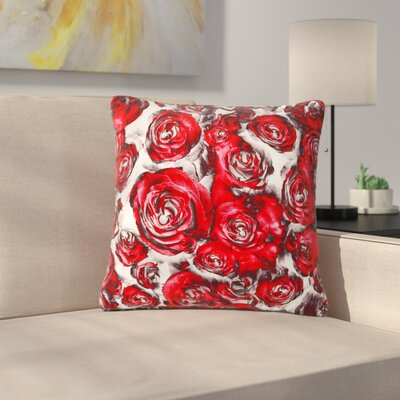 Dawid Roc Roses Floral Abstract Abstract Outdoor Throw Pillow Size: 16 H x 16 W x 5 D