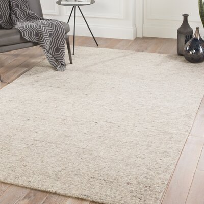 Hollon Hand-Woven Sandshell/Walnut Area Rug Rug Size: Rectangle 5 x 8