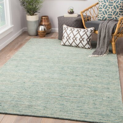 Highland Dunes Hollon Hand-Woven Silver Area Rug Rug Size: Rectangle 8 x 11