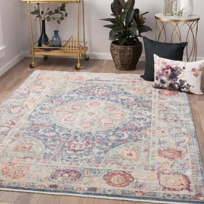 Patchen Lily White/Desert Rose Area Rug Rug Size: Rectangle 2 x 3