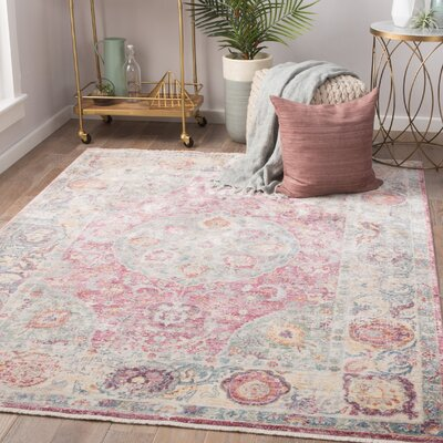 Patchen Lily White/Desert Rose Area Rug Rug Size: Rectangle 5 x 8