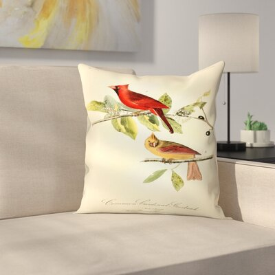 Red Cardinal Throw Pillow Size: 18
