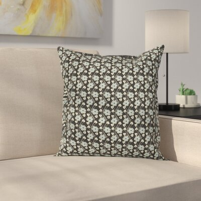 Floral Pillow Cover with Zipper Size: 20 x 20