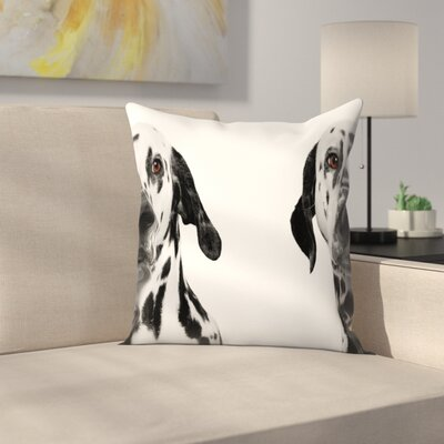 Maja Hrnjak Dalmatian Dog3 Throw Pillow Size: 18 x 18