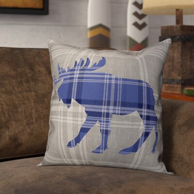 Lowes Moose Plaid Throw Pillow