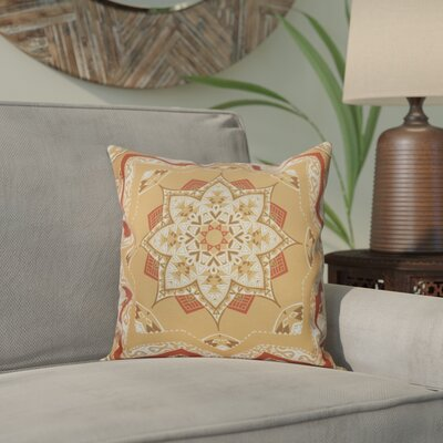 Meetinghouse Shawl Geometric Print Throw Pillow Size: 16 H x 16 W, Color: Gold